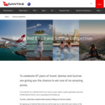 Win 1 of 6 Travel Prizes Worth Up to $11,502 from Qantas