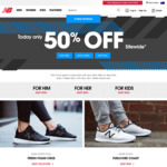 New Balance: 50% off Sitewide for Cyber Monday