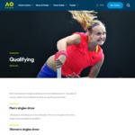 [VIC] Free Entry for Australian Open Men's and Women's Singles Qualifying. Runs from Wednesday 10 Sunday 14 January 2018