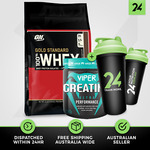 10LB Optimum Nutrition 100% Whey + Viper Creatine + Shaker: $124.72 Delivered @ 24 Hour Nutrition eBay