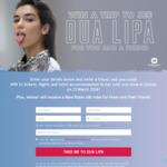 Win a Trip to Dua Lipa Live in Sydney for 2 Worth $2,245 from Warner Music