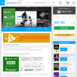 Xbox Live 12 Month Gold Membership (Xbox One/360) - Global US $41.69 (AU $53.14) (+2% VISA Surcharge = AU $54.20) @ GamesDeal
