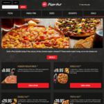 Triple Hut (X3 Large Pizzas, X2 Selected Sides, X1 1.25l Drink) - $39.95 Delivered @ Pizza Hut