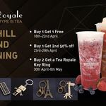 [VIC] Buy 1 Get 1 Free, Buy 1 Get Another at 50% off or Buy 2 Get a Free Key Ring - Tea Royale, Box Hill (Opening Special)