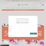 W.Lane 50% off Original Price (W.lane Styles Only), FREE Cape with Purchases over $120, FREE Delivery for Online Orders