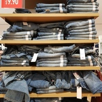 Uniqlo Regular Fit Damaged Jeans $9.90