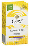 1/2 Price All Olay e.g. Complete Defence Sensitive Moisturiser Lotion SPF 30+ $7.50 @ Coles