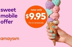 6x 28 Day amaysim Renewals 1GB Unlimited Plan $9.95 ($1.65 Per 28 Days) @ Groupon (New Customers Only)