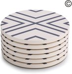 60% off Lifver 6-Piece Absorbent Stone Coaster Set $10.40 + $5.99 Delivery  from Lifverhome Amazon AU