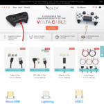 15% off All Volta Universal Magnetic Cables  | Volta Charger Cable +2 Tips USD $19