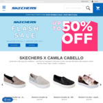 Skechers up to 50% off Selected Styles Flash Sale