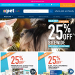 PETstock 25% off Sitewide - Online Only