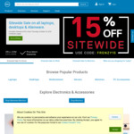 15% off Sitewide and 25% off Monitors @ Dell