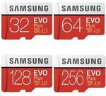 Samsung EVO Plus MicroSD - 64GB $19.20 | 128GB $40.40 | 256GB $75.20 Delivered @ Futu and Tech Mall