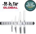 Global 5 Piece Chef's Knife Magnetic Rack Set $218.45 Delivered @ Value Village eBay