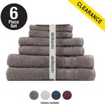 Suprema Cotton 6 Piece Towel Set (White / Port Wine Color) $39.99 + $9.95 Shipping @ Canningvale