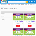 [Club Catch] 50% off 365 Day Catch Connect Mobile Plans (25GB Data for $17/Month) @ Catch