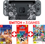 Nintendo Switch Super Smash Bros Limited Edition Console + 3 Games $494.10 + $5 Shipping (Free with Plus) @ EB Games eBay