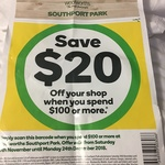 [QLD] $20 off $100 Spend @ Woolworths Southport Park & Coomera Westfield (Possibly Generic Barcode)