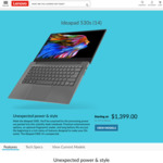 "Lenovo 530s 14 (14"" FHD, i7 8550u, 8GB RAM, 512 GB SSD) for $1399 Delivered @ Lenovo"