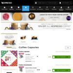 15% off All Nespresso Pods @ Nespresso