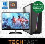 """Ryzen 5 2600 RTX 2080 8GB + 27"""" Bundle: $1599.02 // i3 8100 GTX 1060 + 24"""" Bundle: $679.20, Delivered @ TechFast eBay"""