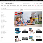 David Jones: 20% off (Applied at Checkout) a Range of Kids Toys (Including LEGO) - Free Shipping on Orders over $100