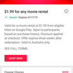 Any Movie Rental for $1.99 @ Google Play