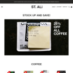 25% off Coffee + Free Chocolate with All Orders @ St. Ali