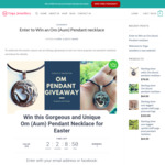 Win Sterling Silver Yoga Om (Aum) Pendant Necklace Worth $78 from Yoga Jewellery