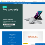 Microsoft Five Day Sale - 30% off Surface Headphones $349.96, 15% off Selected Surface Devices/PCs @ Microsoft