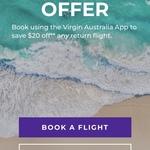 Virgin Australia $20 off Return / $10 off One-Way Fares via App