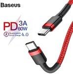 Baseus PD 3.0 60W Type-C to Type-C Cable 0.5m US $1.42 (~AU $2.15) | 1M US $3.18 (~AU $4.81) | 2M US $3.62 (~AU $5.47) @ Joybuy