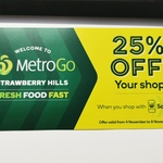 [NSW] 25% off Your Shop via Scan&Go App (Max Discount $50) @ Woolworths MetroGo, Strawberry Hills