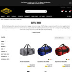 Expedition Duffle - 50L, 70L, 90L & 120L $49.99 Each + $10 Delivery @ Mountain Designs