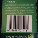 Fairy Platinum Plus Dishwasher Tablets Pk 45 - $8.58 after Stacking Coupon @ Woolworths