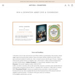 Win 1 of 5 Downton Abbey DVD & Cookbook Packs Worth $94.95 from Anthea Crawford