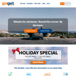 GoGet 25% off 48h+ and 35% off 5days+ on CBD vehicles