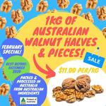 100% Australian Walnuts Halves & Pieces $11/kg +Del (was $19.50) @ Nuts About Life