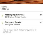KFC Original Recipe Twister - $5 (Normally $6.95) @ KFC via App