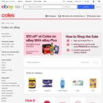 [eBay Plus] $10 off $80 Spend @ Coles eBay
