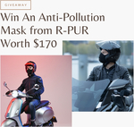 Win An Anti-Pollution Mask from R-PUR Worth $170 from Gadget User and Men's Axis