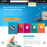 [Prime] Amazon Echo Dot 3rd Gen $10 for New Prime Customers ($6.99/Month) @ Amazon AU