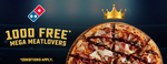 Free Pizzas to First 1,000 to Register @ Domino's (Facebook Registration Link Available Oct 25)