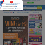 Win 1 of 25 Anytime Fitness 6 Month Gym Memberships from Chemist Warehouse and L'Oréal Men Expert