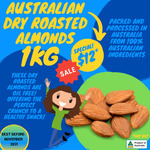 Raw, Wasabi, Smoked, Dry etc Almonds 1kg Pack $12 + Shipping (Free over $100) @ Nuts about Life