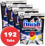 [eBay Plus] 4 x 48 pk (192pk) Finish Powerball Quantum Ultimate Pro Dishwashing Tabs $62.09 + Free Delivery @ Sonalestore eBay