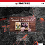 20% off Selected Products. + Delivery @ SteakStones