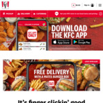 Free Delivery with Purchase of KFC Mates Burger Box $34.95 via App (Excludes SA) @ KFC