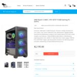 Gaming PC with R5-3600, RTX 3070 Ti, Giga B550, 16GB 3200MHz, 240GB, 750W G: $1995 + Delivery @ TechFast (Shipping End of June)